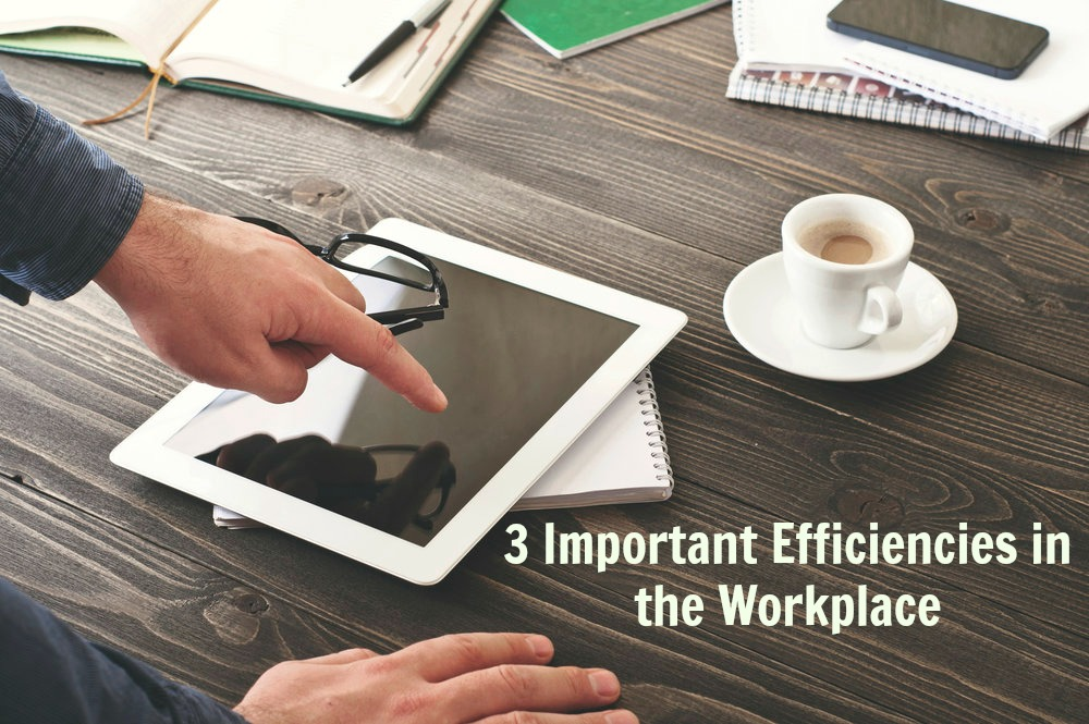 Businessman working with tablet computer at the office or home. Man clicks on blank screen tablet